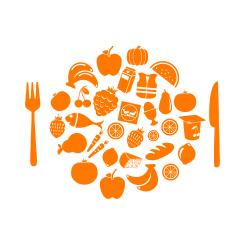 illustration d'une assiette